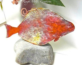 Fish Wall Hanging. Rustic Hammered Copper. Colorful Metal Decor. Nautical Gift for Fishermen. Cottage Chic Beachy Man Cave Wall Decoration