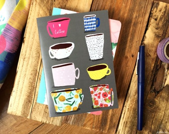 SALE: Coffee greeting card cc95