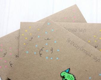 Happy Birthday Card. Handmade Birthday Card. Dinosaur Card. Birthday Dinosaur. Happy Birthday. Dinosaur. Happy Birthday Card. Card. Greenery