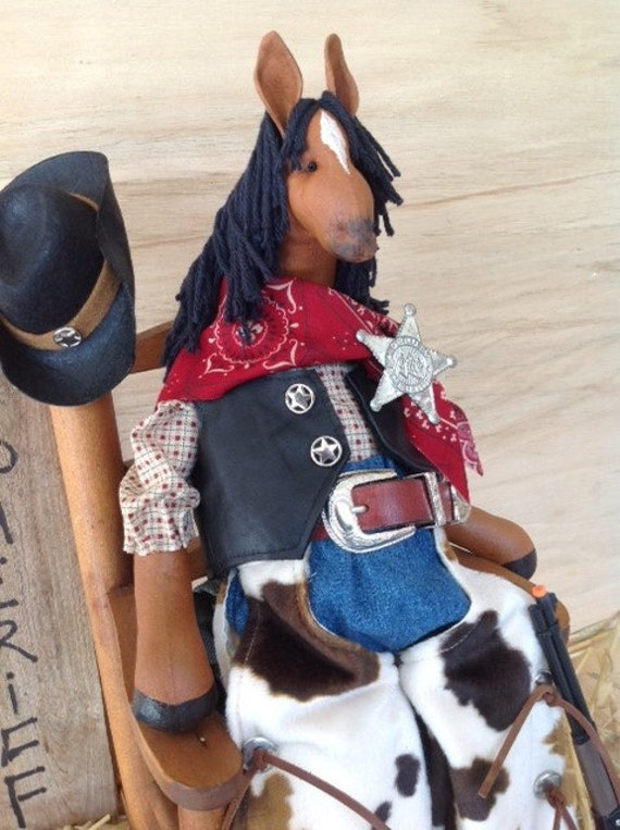 Mailed Cloth Doll Pattern Western Dressed Cowboy Horse