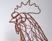 RESERVED for CWC: Copper Rooster Wire Sculpture - Final Payment