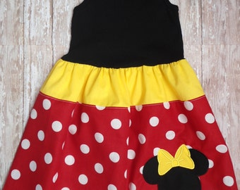 DISNEY DRESS, minnie mouse dress, girls dress, disney vacation, birthday party dress, girls minnie mouse birthday dress, 1st Birthday party