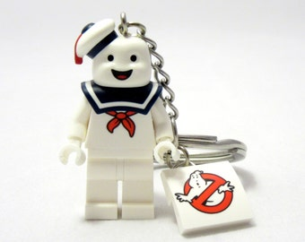 Stay Puft® Inspired Keychain *SALE* Ghostbusters® Fan Art Crafted From LEGO® Elements