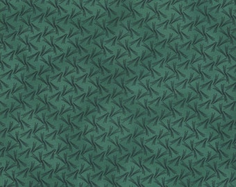 """34"""" Remnant Piece - Green and Black Print Quilt Fabric by Beth Ann Bruske for David Textiles"""