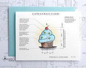 Project Cupcake - Birthday Boy Architecture Construction Card