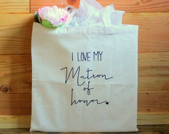 Matron of Honor Wedding Party Gift Tote