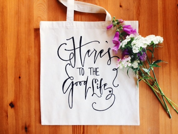 Wedding Welcome Gift Bag Hotel Favor for Out of Town Guets Bridal Bag Here's To The Good Life