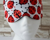 Lady Bug Fashioned Eye Mask for Sleep, Travel, etc. ~ READY TO SHIP for Teachers, Friends, Birthdays, All Occasion Gifts