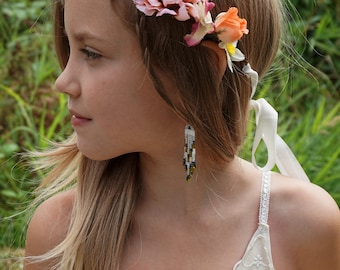 Uli Flower Crown... boho flower girl child whimsical fairy country wedding woodland tea party hippie circlet