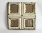 AUTHENTIC Tin Ceiling Multi Quad 3 x 3 Light Malt Picture Frame Photo 206-16