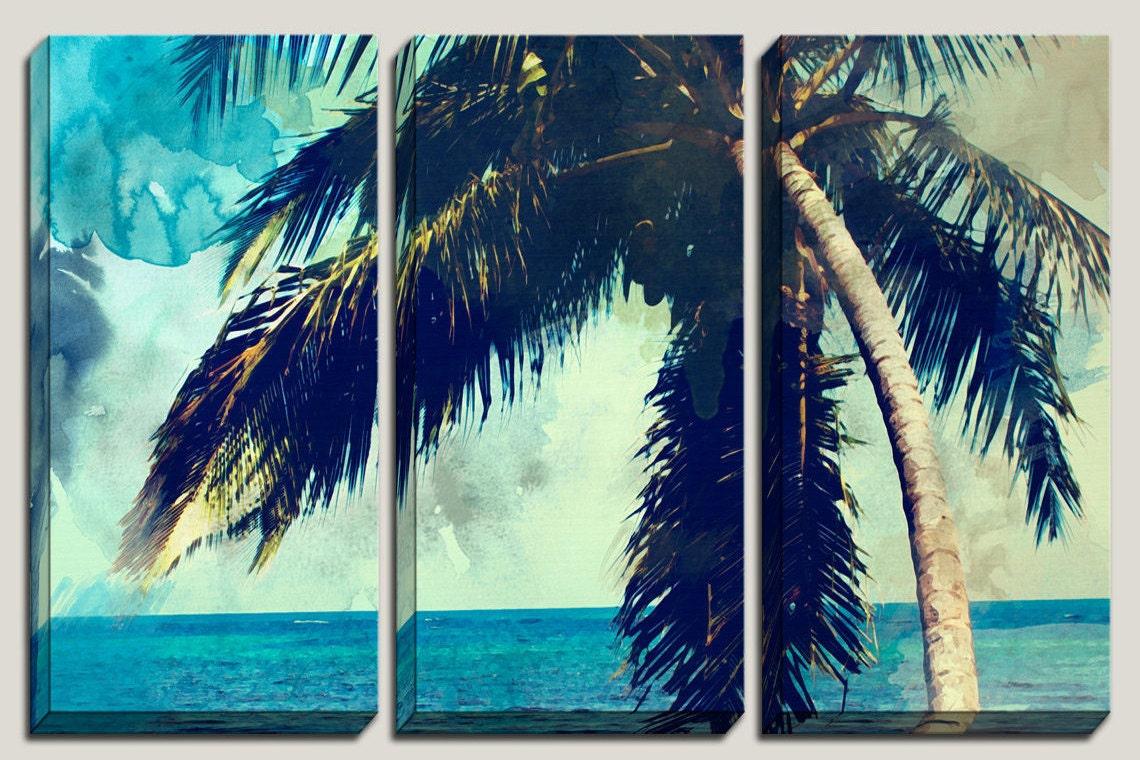 Palm tree canvas prints