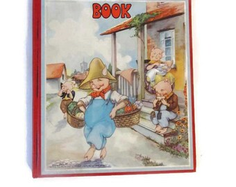 My Picture Story Book - Illustrated - Rhymes - Stories - Vocabulary - Watty Piper - Eulalie - Very good condition - 1941