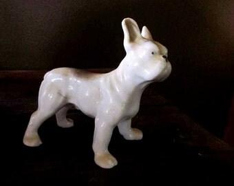 Vintage ceramic French Bulldog figurine - Japan - Mid century