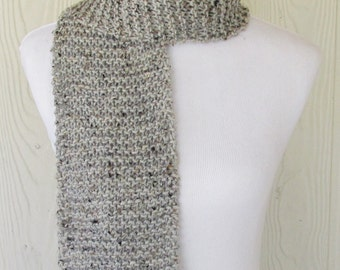 Gray Scarf, Hand Knit Scarf, Womens Scarf, Ladies Knitted Scarf, Winter Fashion, Winter Accessories, Eclectasie