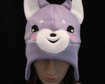 Fox Fleece Hat Purple Sly