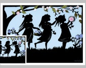 Spring Card, sister's Card,  May Day Card,  Paper Cut, Mothers Day