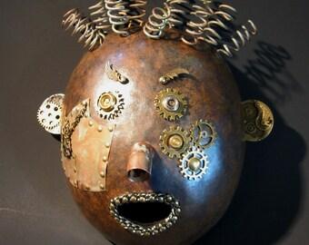 Steampunk Pete Mask Gourd Art