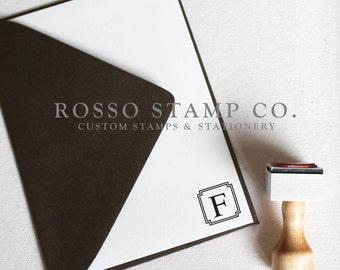 Monogram Stamp, Wedding Monogram Stamp, Custom Stamp - Style No. 7