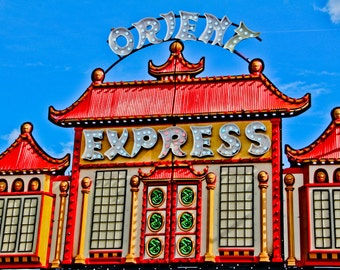 Orient Express Carnival Ride Fine Art Print - Carnival Art, County Fair, Nursery Decor, Home Decor, Children, Baby, Kids