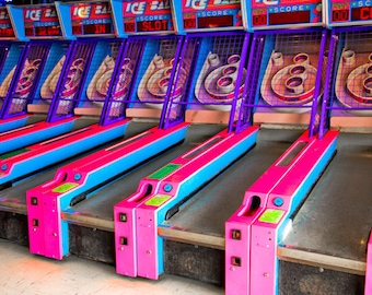 Skeeball Arcade Game 1 Fine Art Print- Carnival Art, County Fair, Nursery Decor, Home Decor, Children, Baby, Kids