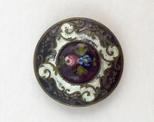 purple antique enamel button
