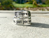 Just You Wait Ring, Alexander Hamilton Inspired Ring, Hand Stamped Twist Wrap Ring, Graduation Gift, Quote Ring, Music Lovers Gift, Graduate