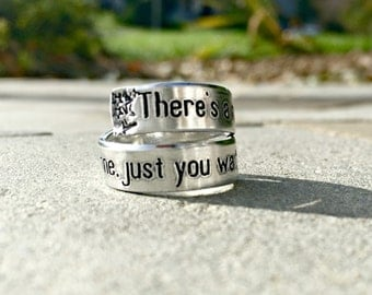 Theatre inspired wedding rings