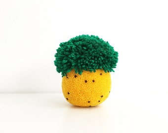 XL Pineapple Pom Pom, table decor, paperweight, gift