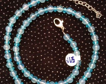 Sea Blue Chalcedony Necklace   N65
