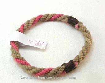 cotton grommet rope bracelet mini collection 2037