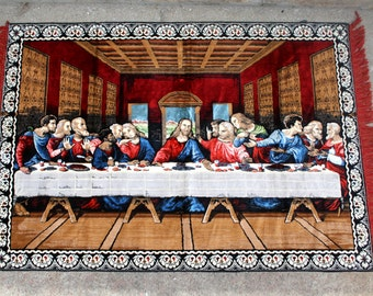 "The Last Supper Italian Made Tapestry 48"" x 72"""