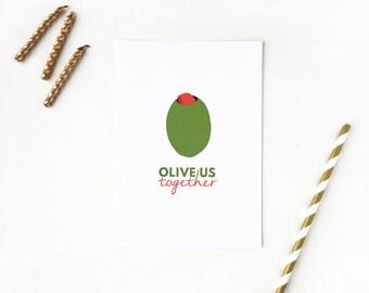 kitchen decor, kitchen wall decor, kitchen art, wedding gift, olive us together, engagement gift, anniversary gift