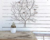 Metal Bird Wall Decor, Nest Wall Decor, Birds Nest, Country Home, Metal Wall Decor, Metal Branch Decor