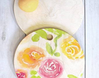 Candy Colored Cutting Board Round