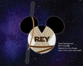 Disney Inspired Rey Mouse Head Magnet for Disney Cruise