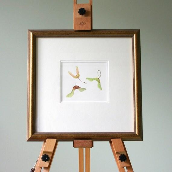 Wall Art - Maple Seeds Illustration - Botanical Watercolour - Art for living room - Art for Office - Gift for Nature Lover - Christmas Gift