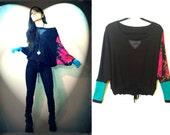 Pullover Contrast Sleeve Sport Tunic/Shrug
