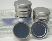 Empty 1/4 Ounce Tins with Lids and Shrink Bands - Balm, Candy, Sample Containers - Pill Box - Cosmetic Supplies - Bead Storage