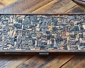 Full Drawer of Wood Type Letterpress Printing Blocks Mix 440+ Pieces