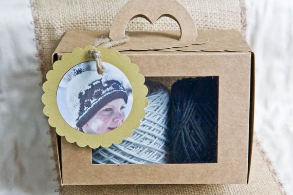 Knitting Kit for Boys Youth Child Train Hat. Yarn and Pattern