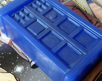 Large TARDIS Soap - Verbena and Berries Scent