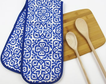 Moroccan Tile Print Oven Gloves