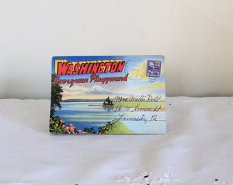 1951 Washington Fold Out Postcard