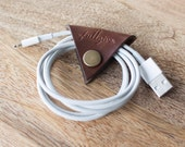 "Leather Cord Keeper // ""the cordita"" by fullgive in brown"