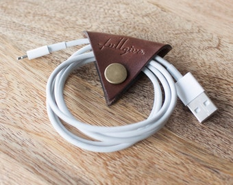 """Leather Cord Keeper // """"the cordita"""" by fullgive in brown"""
