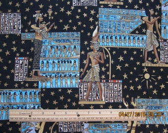 EGYPTIAN FABRIC Under the Nile Sky Alexander Henry 1993 - 1/2+ Yard