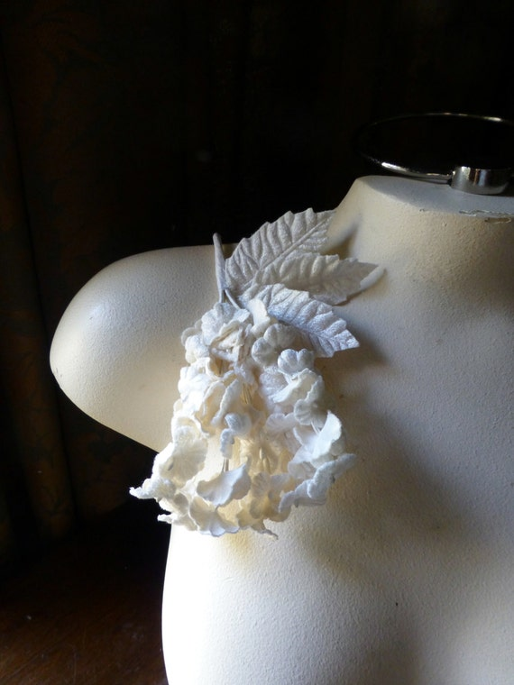 IVORY Velvet Millinery Forget me Nots  for Bridal, Hairpins, Headbands, Garters, Millinery MF 204