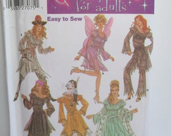Misses' Costume Variety Simplicity 5363 Halloween Sewing Pattern, Pirate Outfit, Butterfly, Princess, Gypsy, Cosplay Easy to Sew Size 6 - 12