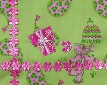 Pink Kimono & Sandals Iron On!