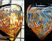 Guitar Pick with Green Exotic Dabs - Handblown Glass